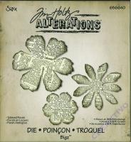 Sizzix Schablone Tim Holtz Alterations - Blüten