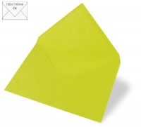 Kuvert C6 156x110mm 90g lindgrün
