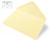Kuvert B6 180x120mm 80g Japanseide vanille (Restbestand)