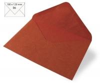 Kuvert B6 180x120mm 80g Japanseide rost (Restbestand)