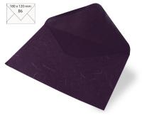 Kuvert B6 180x120mm 80g Japanseide pflaume