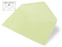 Kuvert B6 180x120mm 80g Japanseide mintgrün (Restbestand)