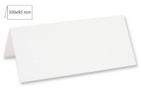 Tischkarte doppelt 100x90mm 220g weiß