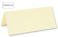 Tischkarte doppelt 100x90mm 220g elfenbein