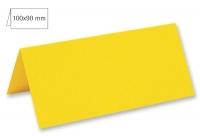 Tischkarte doppelt 100x90mm 220g sonnengelb