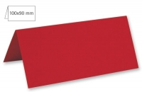 Tischkarte doppelt 100x90mm 220g kardinalrot