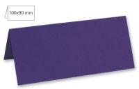 Tischkarte doppelt 100x90mm 220g violett