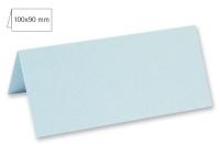 Tischkarte doppelt 100x90mm 220g babyblau