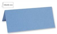 Tischkarte doppelt 100x90mm 220g azurblau