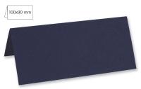 Tischkarte doppelt 100x90mm 220g nachtblau