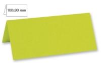 Tischkarte doppelt 100x90mm 220g lindgrün