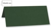 Tischkarte doppelt 100x90mm 220g piniengrün