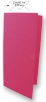 Karte DIN lang 210x210mm 220g pink