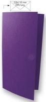 Karte DIN lang 210x210mm 220g violett