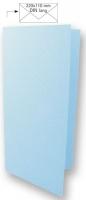 Karte DIN lang 210x210mm 220g babyblau