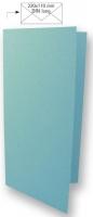 Karte DIN lang 210x210mm 220g azurblau