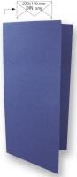 Karte DIN lang 210x210mm 220g royalblau