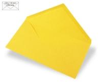 Kuvert DIN lang 220x110mm 90g sonnengelb