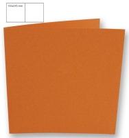 Karte quadratisch 135x270mm 220g mandarine (Restbestand)