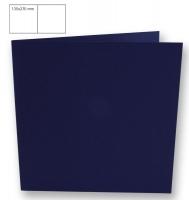 Karte quadratisch 135x270mm 220g nachtblau (Restbestand)