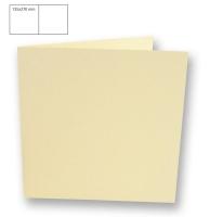 Karte quadratisch perlmutt 135x270mm 250g elfenbein (Restbestand)