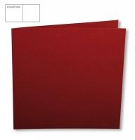 Karte quadratisch perlmutt 135x270mm 250g bordeaux (Restbestand)