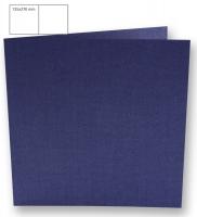 Karte quadratisch perlmutt 135x270mm 250g royalblau (Restbestand)