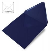 Kuvert quadratisch 140x140mm 90g nachtblau (Restbestand)
