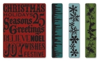 Sizzix Tim Holtz Alterations Christmas Background & Borders Set