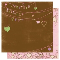 Scrapbooking Papier Smoochable Huggable (Restbestand)
