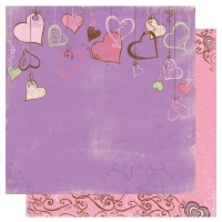 Scrapbooking Papier Smoochable Heart Strings (Restbestand)