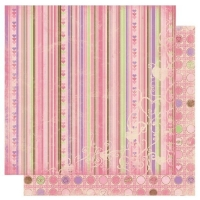 Scrapbooking Papier Smoochable Stripe (Restbestand)