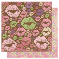 Scrapbooking Papier Smoochable Hot Lips (Restbestand)