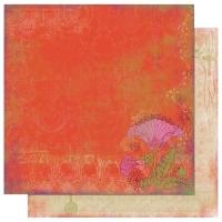Scrapbooking Papier Garden Girl Poppy