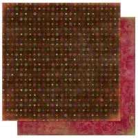 Scrapbooking Papier Garden Girl Dot