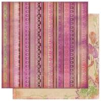 Scrapbooking Papier Garden Girl Stripe