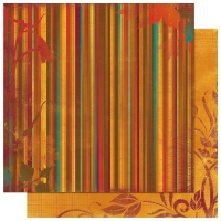 Scrapbooking Papier Forever Fall Stripe (Restbestand)