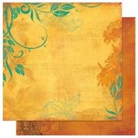 Scrapbooking Papier Forever Fall Sunflower (Restbestand)