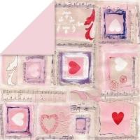 Scrapbooking Papier Hearts & Ornaments
