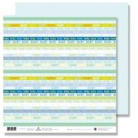 Scrapbooking Papier Karen Marie Klip - Baby hellblau