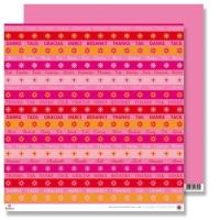 Scrapbooking Papier Karen Marie Klip - Danke babyrosa