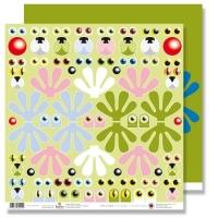 Scrapbooking Papier Karen Marie Klip - Eyes
