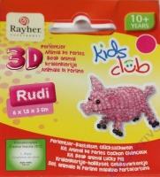 Kids Club 3D Perlentier-Bastelset Gücksschwein Rudi