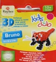 Kids Club 3D Perlentier-Bastelset Panda Bruno