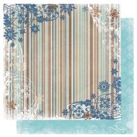 Scrapbooking Papier Bo Bunny Snowfall Stripe