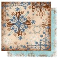 Scrapbooking Papier Bo Bunny Snowfall Hot Chocolate