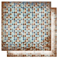 Scrapbooking Papier Bo Bunny Snowfall Dot