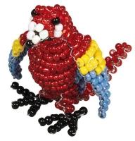 Kids Club 3D Perlentier-Bastelset Papagei Lola