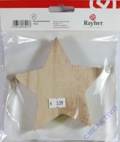Holz--Stern 12x12x2,5cm