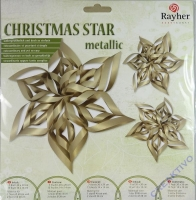 Christmas Star metallic - gold